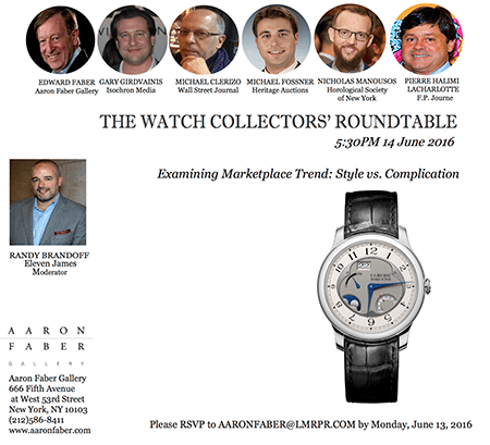 Watch Collectors' Roundtable FP Journe