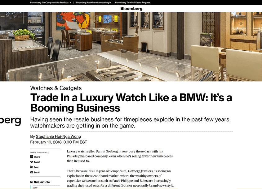 bloomberg watchbox luxury watch