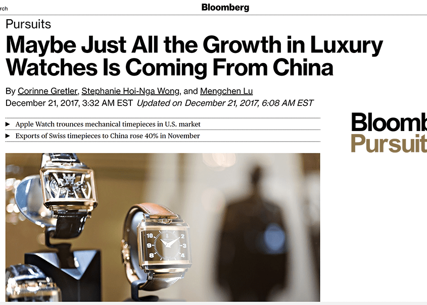 bloomberg pursuits luxury watches