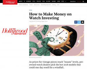 hollywood reporter luxury watches