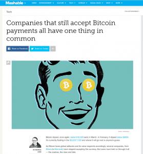 mashable bitcoin