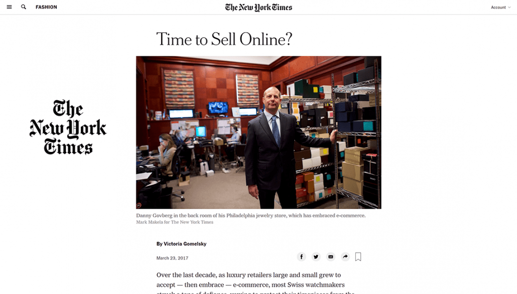 new york times selling luxury watches online