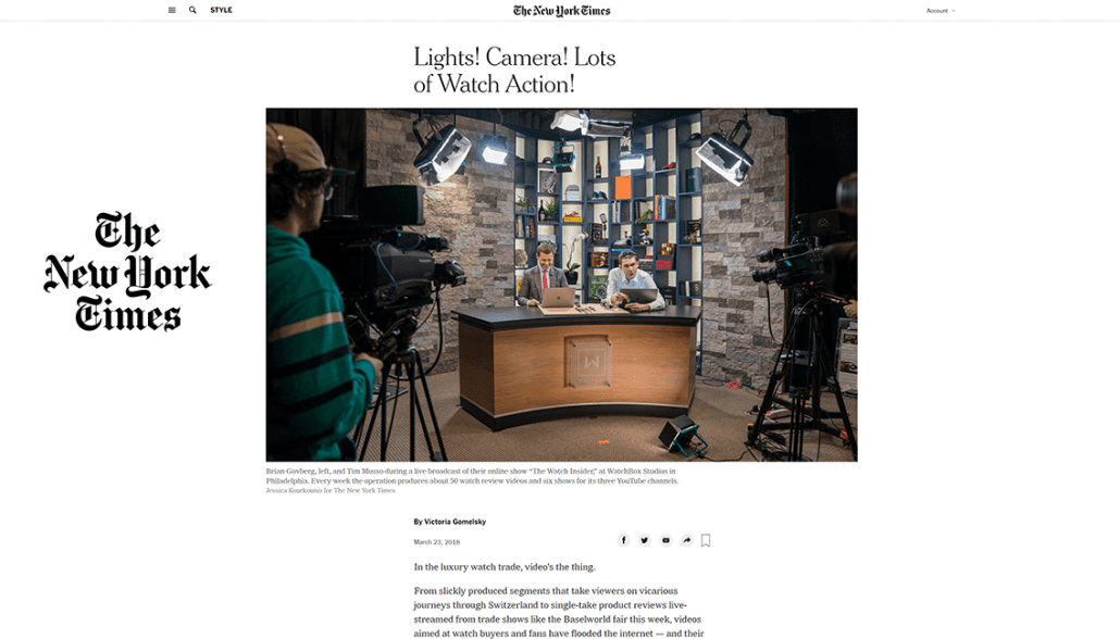 new york time video press coverage