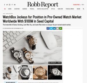 robb report watchbox